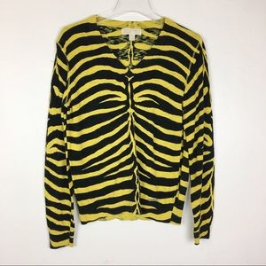 Michael Kors Yellow/Green/Black Sweater Size L